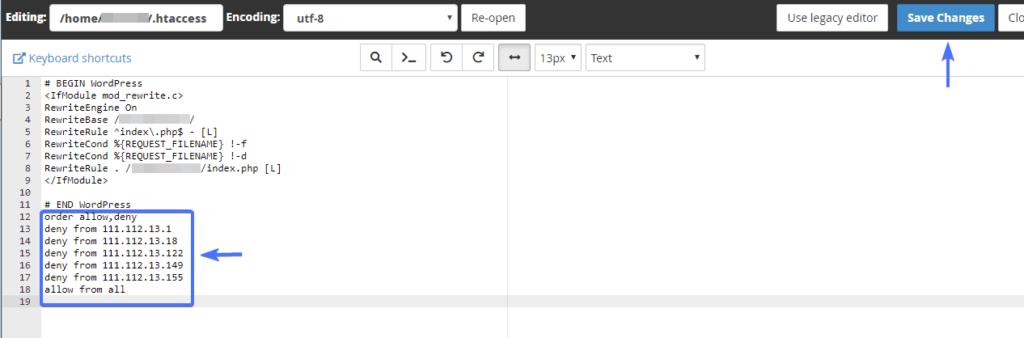 Как заблокировать IP-адрес в WordPress