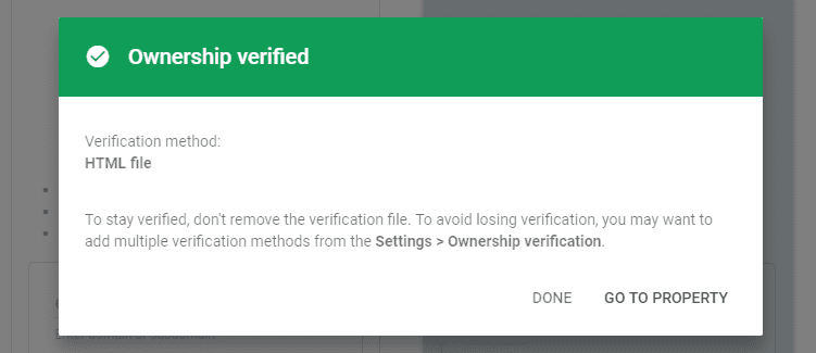verify-domain in google