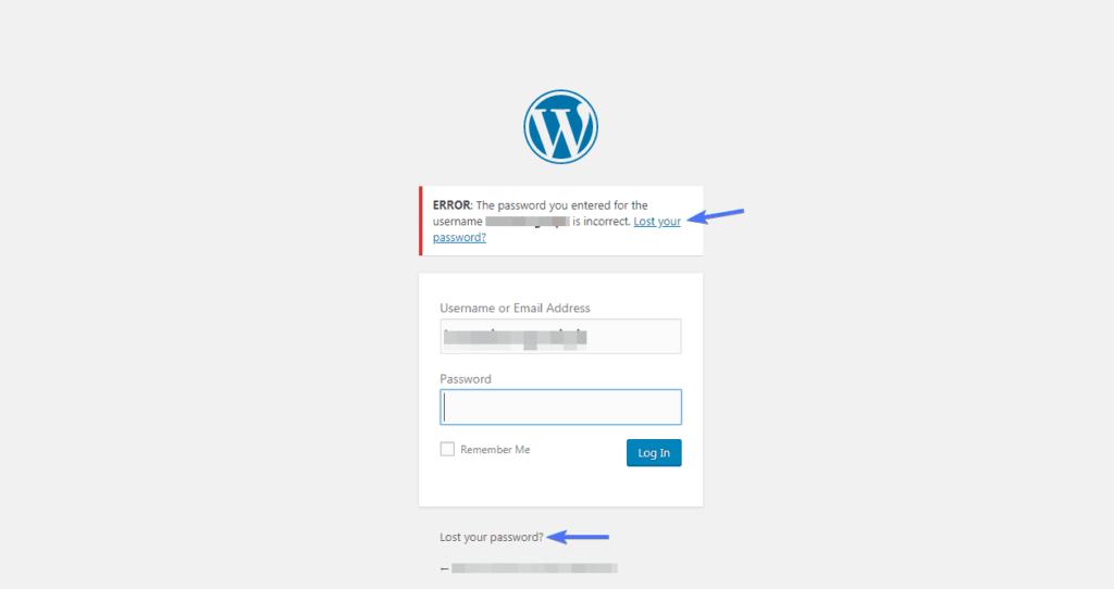 Используйте сброс пароля, чтобы изменить пароль WordPress