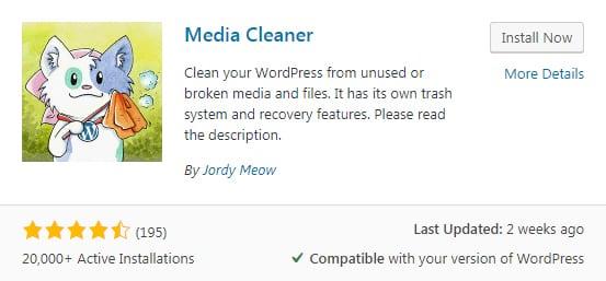 плагин Media Cleaner