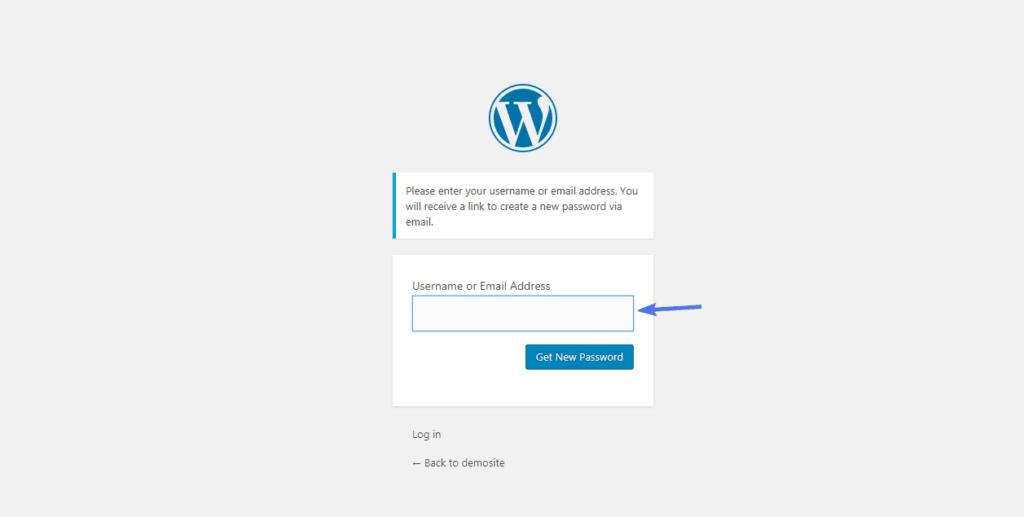сбросить пароль вставить имя пользователя или адрес электронной почты