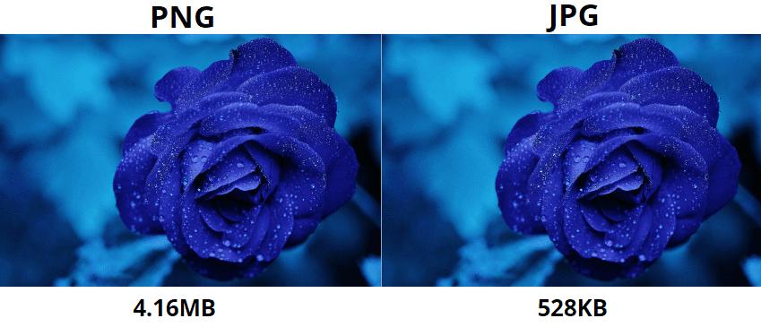 png vs jpg: размер
