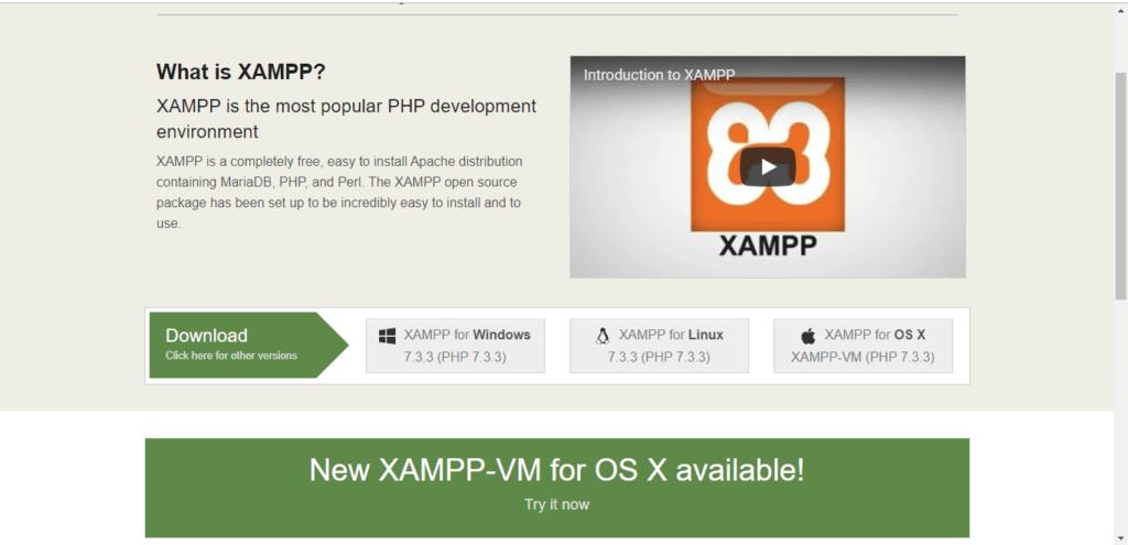 xampp сайт