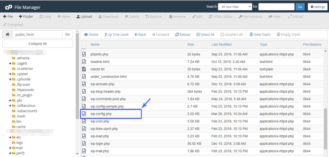 Изменение доменного имени при редактировании WP-config