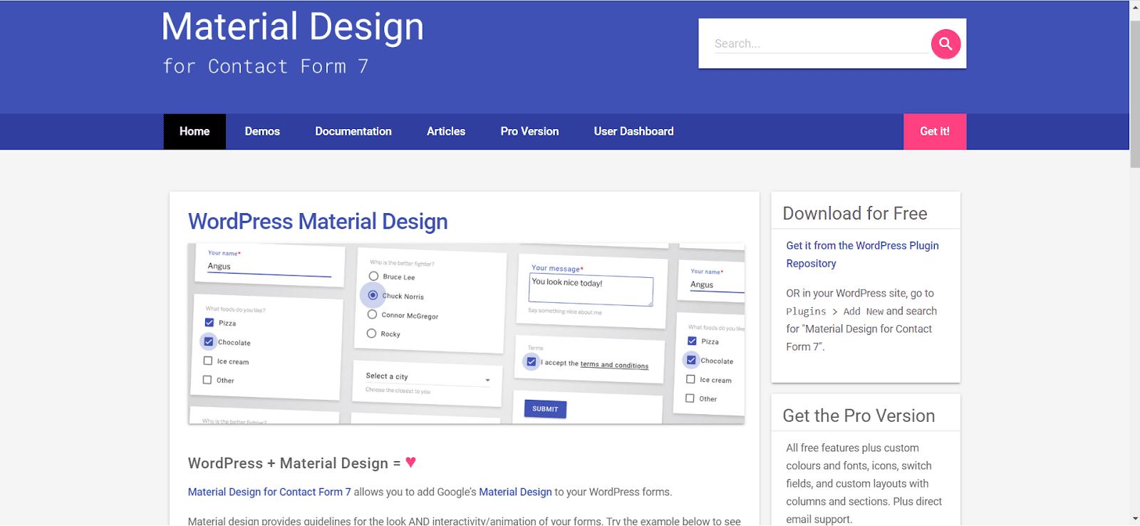 Material Design for CF7